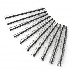 Goldpin plug 1x40 straight 2.54mm raster - black - 10pcs.