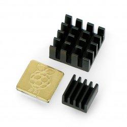 Heatsink set for Raspberry Pi with thermoconductive tape - 3x
