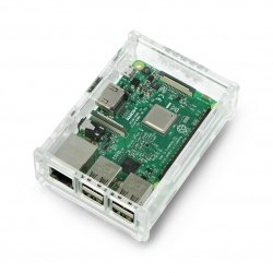 Case Raspberry Pi Model 3B+/3B/2B - transparent