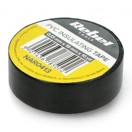Insulating tape Rebel 0,13x19mm x 9,14m black