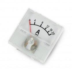 Analog ammeter - panel 91C16 mini - 20A