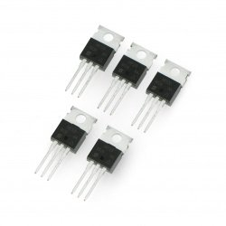 Transistor N-MOSFET IRF520NPBF - THT - 5pcs.