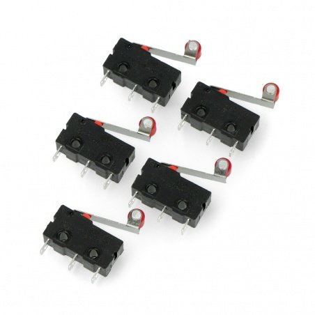 Limit switch mini with roller - WK625 - 5pcs.