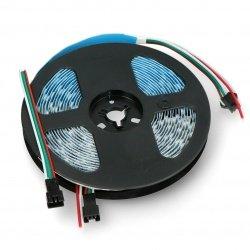 RGB LED strip SK6812 - digital, addressable - IP30 60 LED/m, 5V