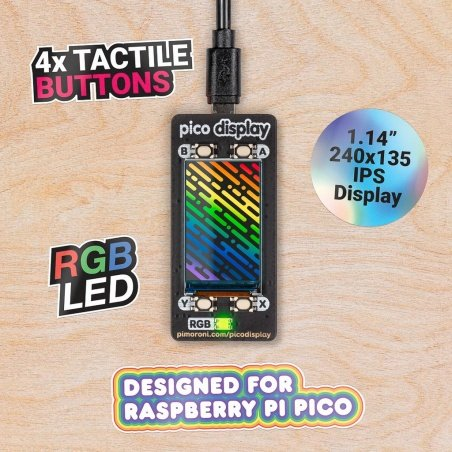 Pico Display Pack - shield with IPS LCD 1,14'' 240x135px display