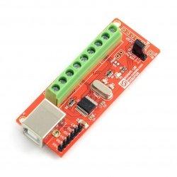 8 Channel USB GPIO Module With Analog Inputs