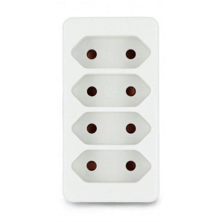 Splitter 4 sockets AC 230V 2,5A - Vorel 72402 - white