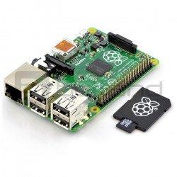 Raspberry Pi Model B + 512MB RAM with memory card + system