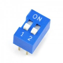 DIP switch 2-pole - blue