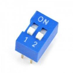 DIP switch 2-pole - blue