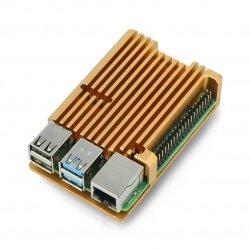 Raspberry Pi 4B justPi aluminium case - copper gold - LT-4B03