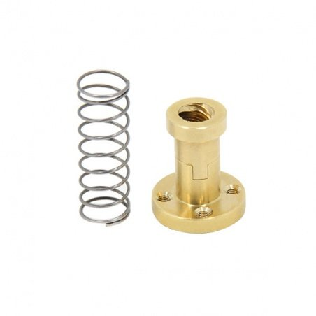 Backlash removal nut for 8mm trapezoidal bolt