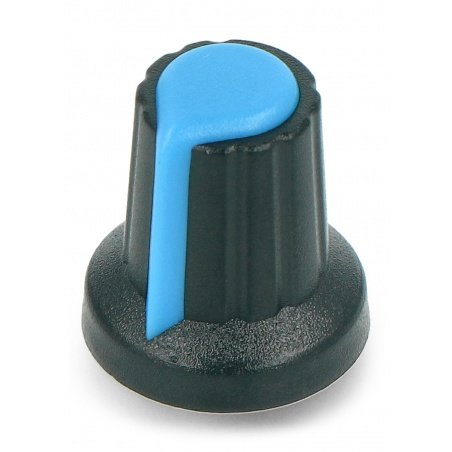 Potentiometer knob blue - 6 / 14mm - 5pcs.