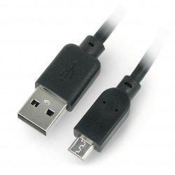MicroUSB B cable - A 2.0 Hi-Speed Goobay black - 1m
