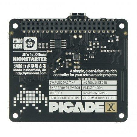 Picade X HAT USB-C - games console for Raspberry Pi - Pimoroni