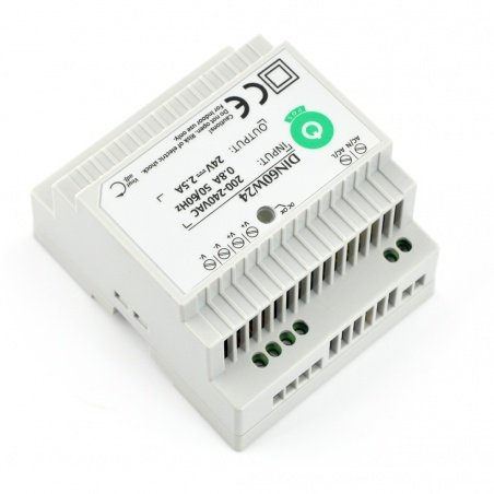 Power supply DIN60W24 for DIN rail - 24V / 2,5A / 60W