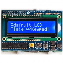 Blue negative 2x16 LCD + keypad Kit for Raspberry Pi - Adafruit