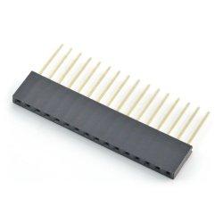 Socket 1x16pin - 2,54mm - long