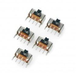 SS12T40 slide switch 2-position angular - 5pcs.