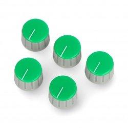 Potentiometer knob GS18 gray-green - 6/18mm - 5pcs.