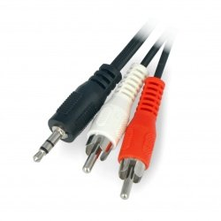 Jack cable 3,5 - 2 x RCA 2,5m