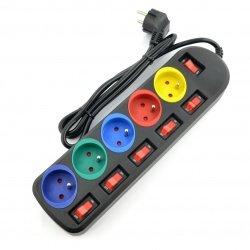 Power Strip Rainbow 5 Pro -...