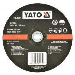 Metal grinding disc YT-6125