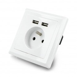 Wall socket 230V  with two...