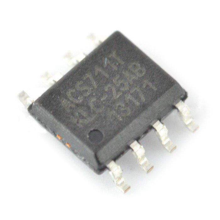 Czujnik prądu ACS711KLCTR +/-25A - SMD.