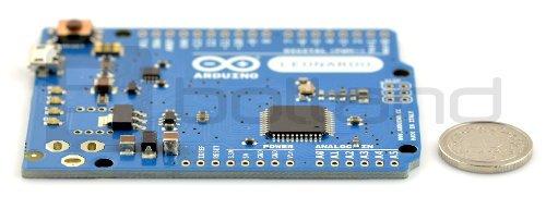 Arduino Leonardo - niski profil, bez złącz, atmega32u4, SRAM, mikrokontroler