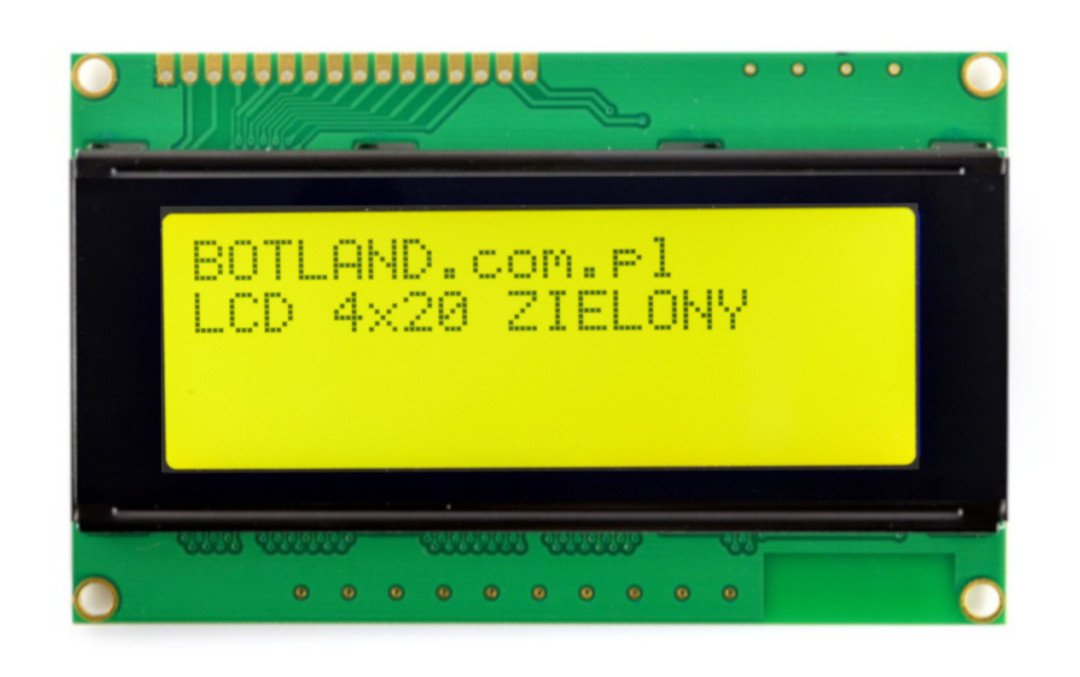 LCD display 4x20 characters green