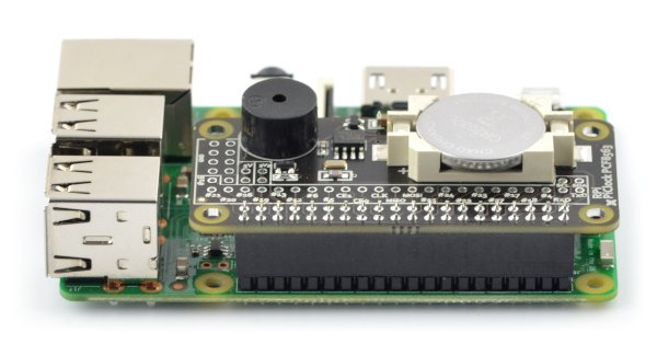 PiClock RTC PCF8563 I2C - real time clock + buzzer + battery for Raspberry Pi 4/3/2/B+