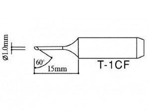 Grot do stacji lutowniczych - ścięty typ T-1CF