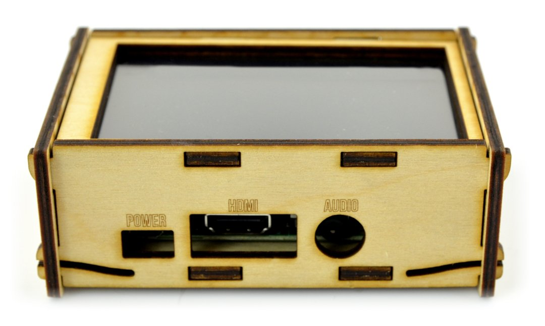 """Case Raspberry Pi 3/2 and 4"""" screen - wooden"""