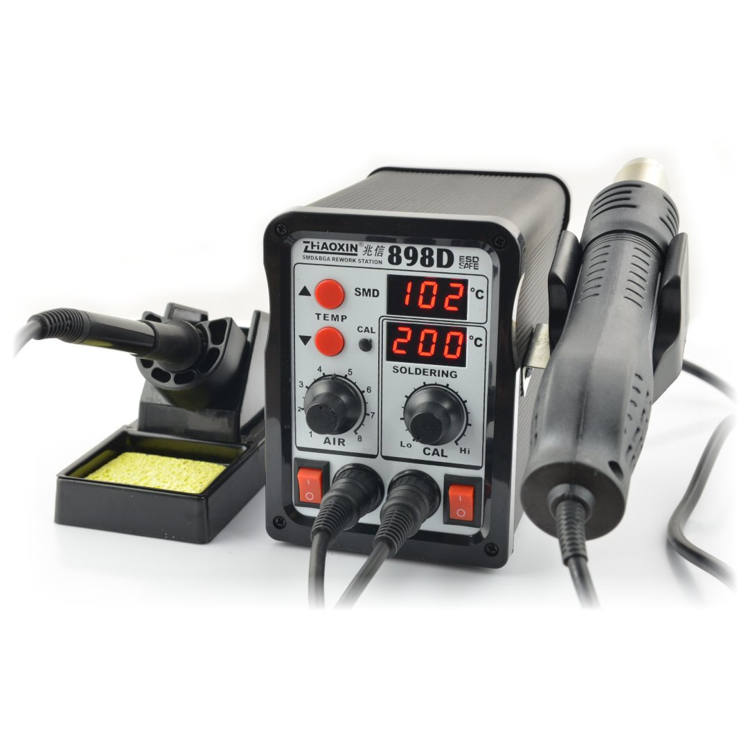 Soldering station 2in1 hotair and grotto Zhaoxin 898D with a fan in flask
