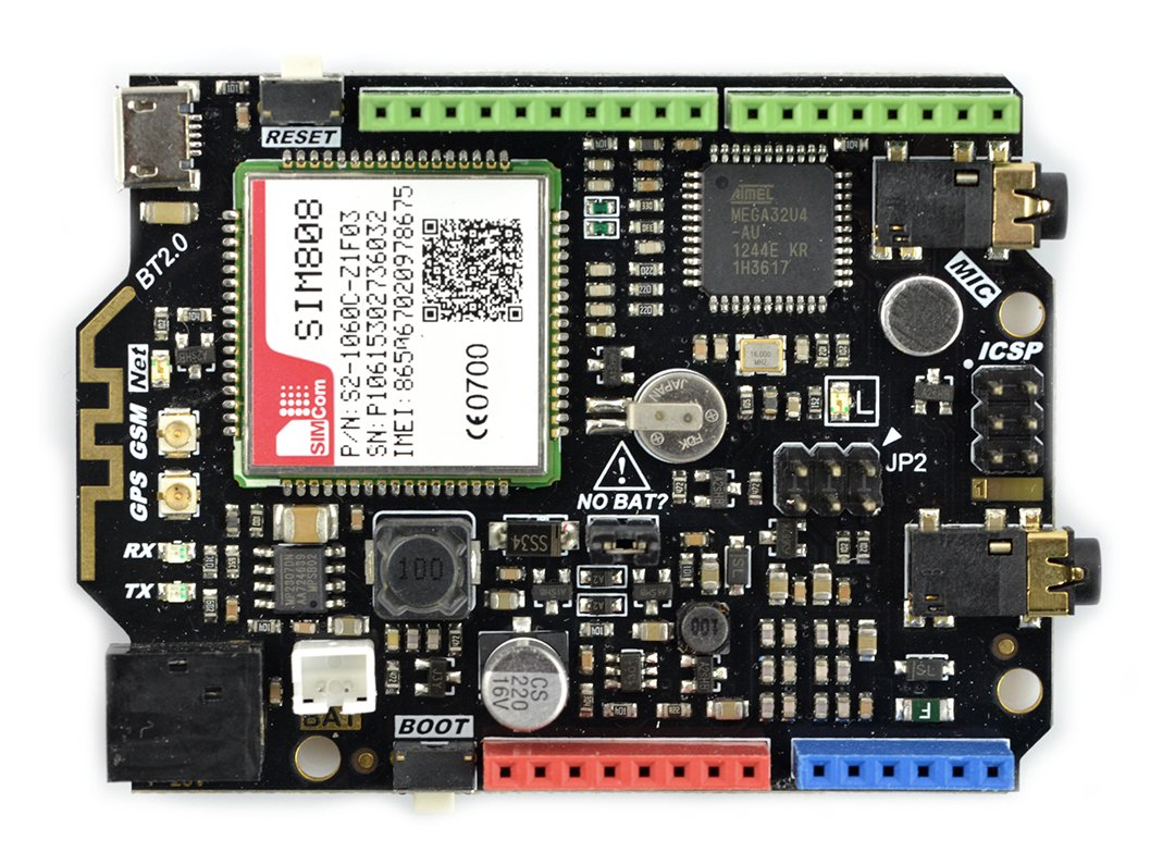 Leonardo + moduł GSM/GPRS/GPS SIM808