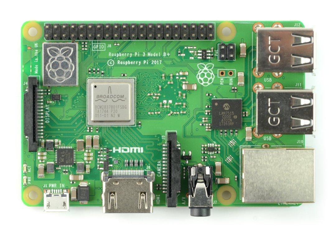 Nowa płytka Raspberry Pi w wersji 3 Plus.