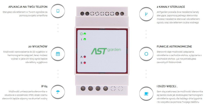 ASTgarden - sterownik oświetlenia ogrodu