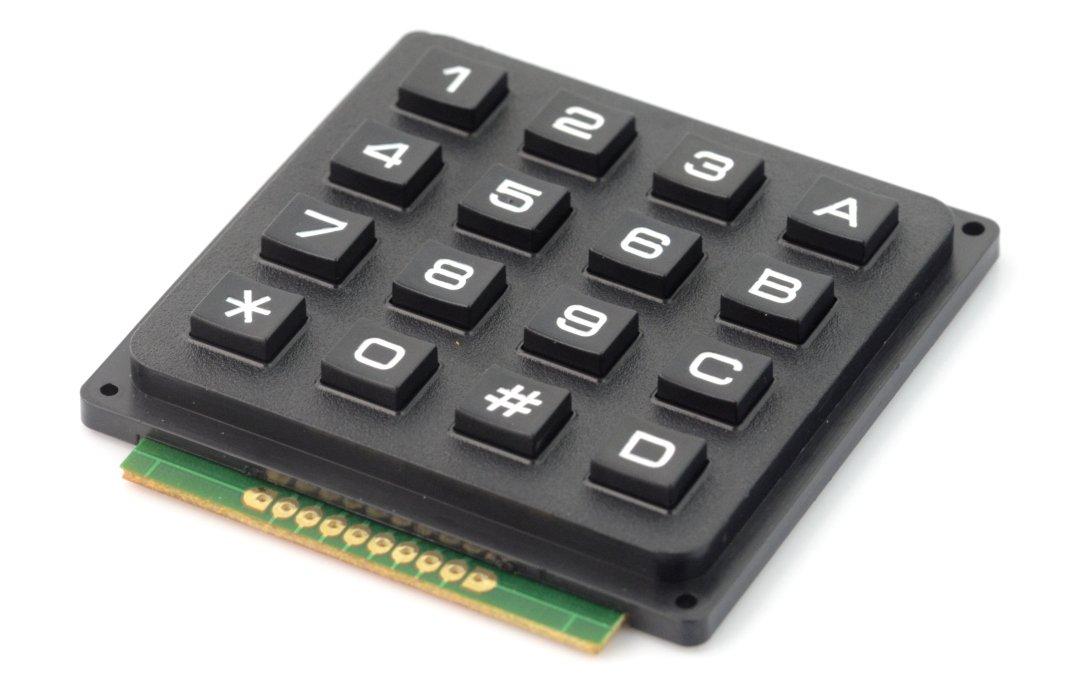 Klawiatura numeryczna + ABCD - 16 klawiszy