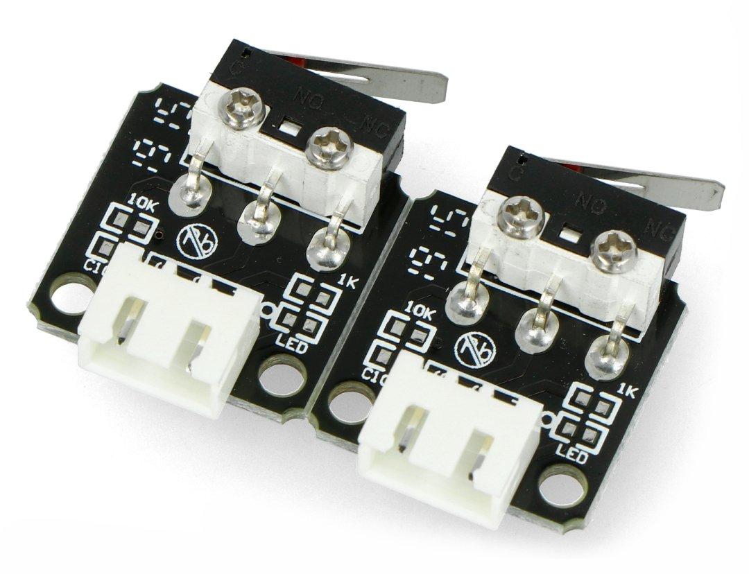 Zestaw zawiera moduły wyłączników krańcowych