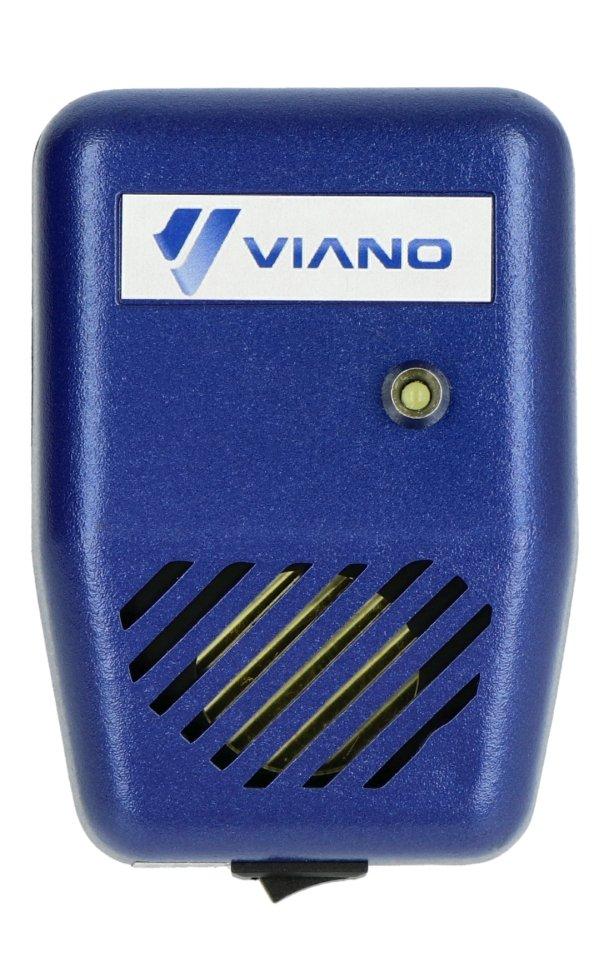 Odstraszacz posiada przycisk kołyskowy pozwalający na odłączenie zasilania bez konieczności wypinania urządzenia z gniazdka.