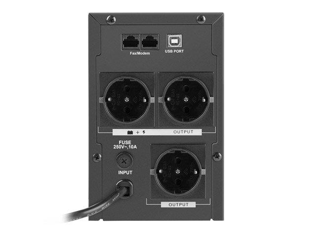 Zasilacz awaryjny UPS Armac 1000F LCD - 3 x gniazdo Schuko - 230V