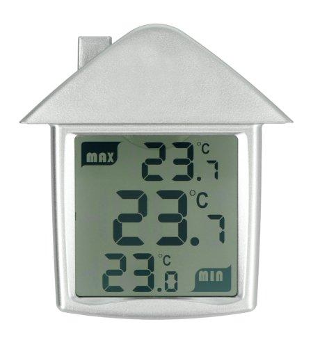 Termometr okienny - przezroczysty - Perel WC216