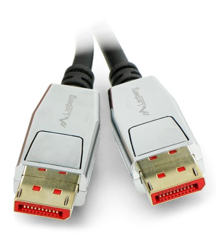Przewód DisplayPort męski 20pin v1.4 8K Lanberg czarny - 1,8m