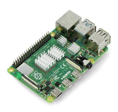 Zestaw radiatorów kompatybilnych z Raspberry Pi 4 srebrnych 4 szt.