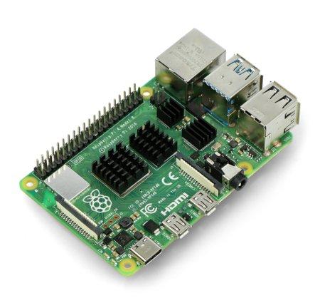 Zestaw radiatorów kompatybilnych z Raspberry Pi 4 czarne 4 szt.