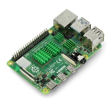 Zestaw radiatorów kompatybilnych z Raspberry Pi 4 zielone 4 szt.