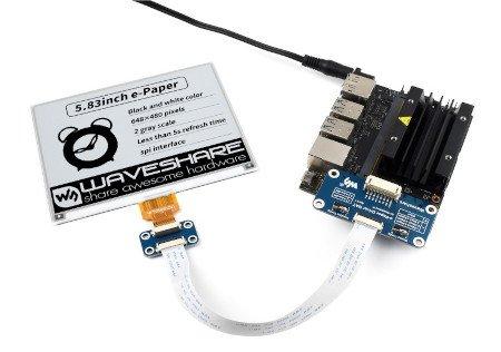 Wyświetlacz wykorzystuje interfejs komunikacyjny SPI.