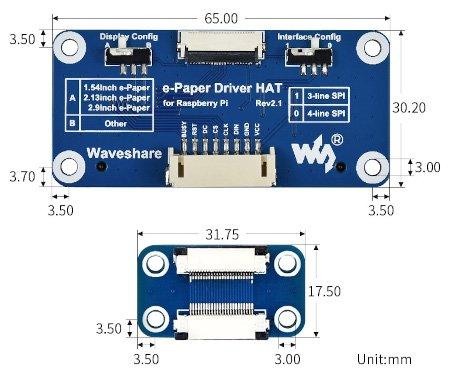 Nakładka HAT posiada otwory montażowe o średnicy 3 mm.