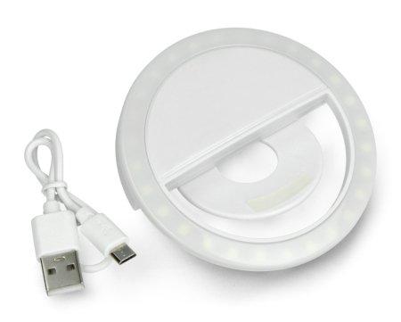 Lampa pierścieniowa LED Tracer Selfie - klips